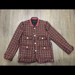 Zara Tweed Blazer with gold buttons